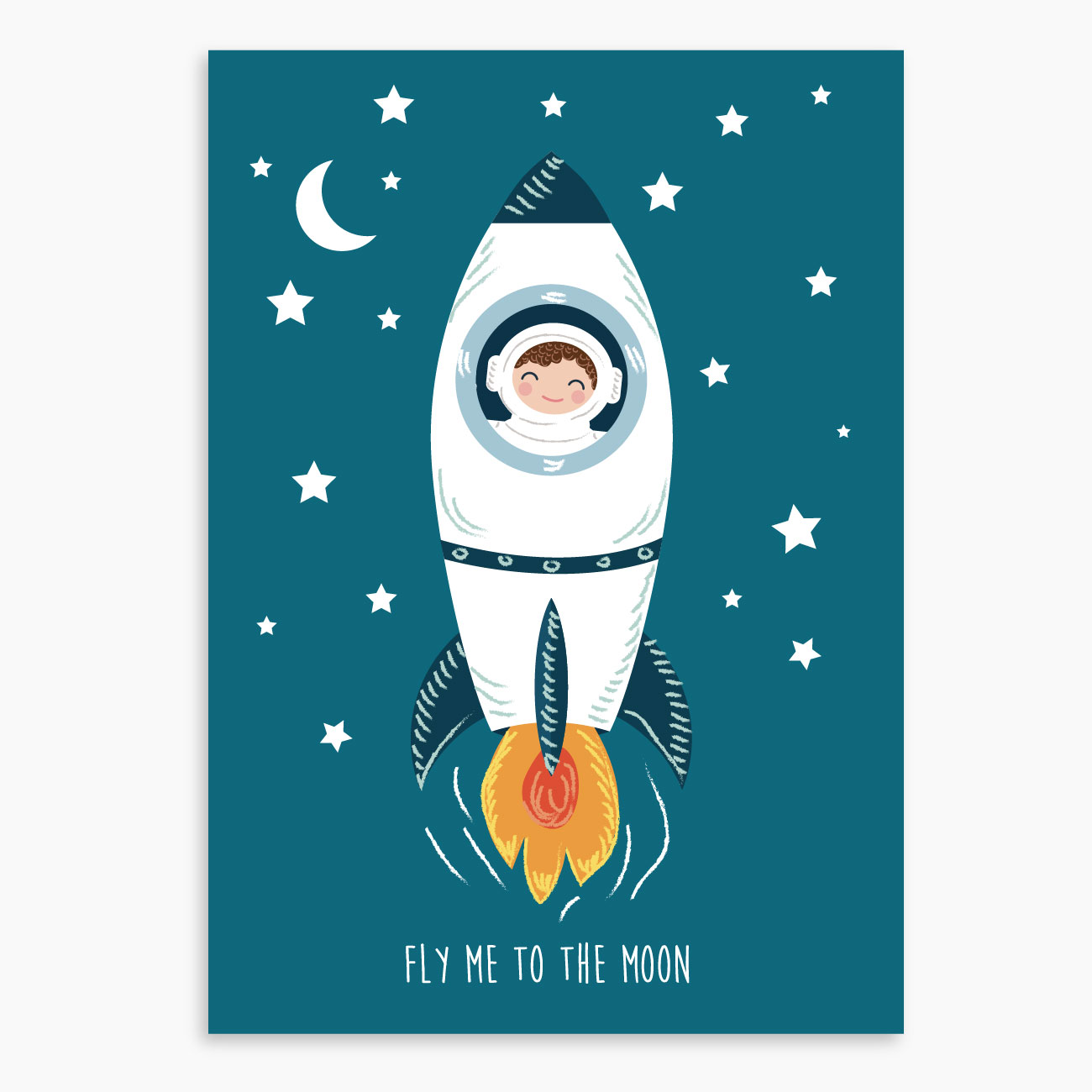 affiche astronaute affiche d corative affiche chambre enfant. Black Bedroom Furniture Sets. Home Design Ideas