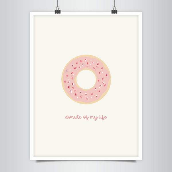 AFFICHE DONUTS