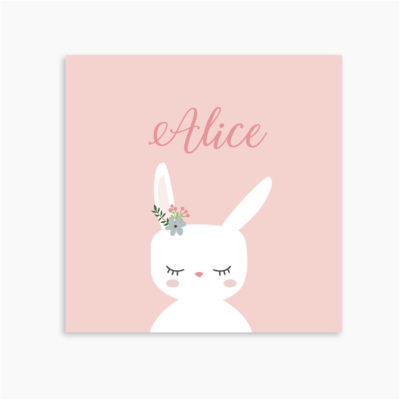 FAIRE-PART ALICE LAPIN
