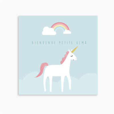 FAIRE-PART LICORNE