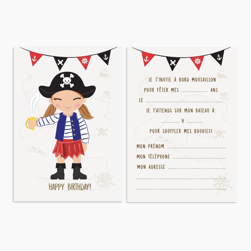 Lot Carte Anniversaire Pirate Invitation Bruxelles