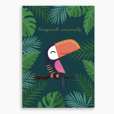 AFFICHE TOUCAN TROPICAL